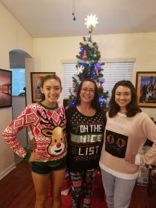 Comfortable enough for pix with teen nieces!